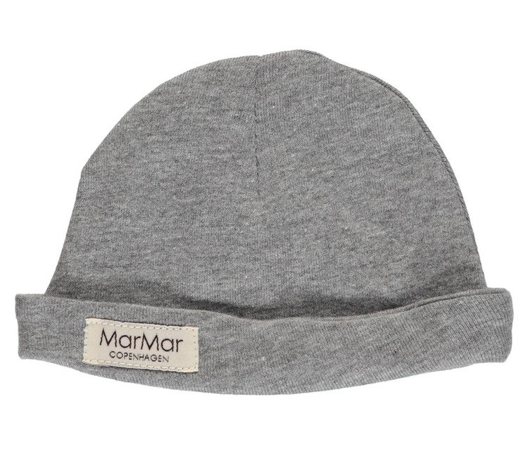 Marmar Aiko Newborn Hat Baby Unisex Grey Melange