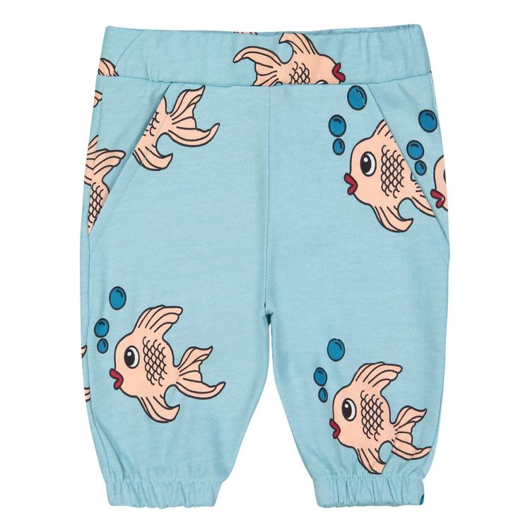 Hugo Loves Tiki Knee Sweat Short Blue Fish