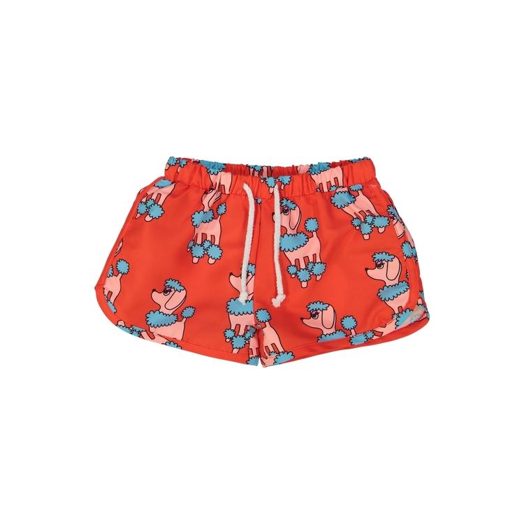 Hugo Loves Tiki Swim Trunks Red Poodle