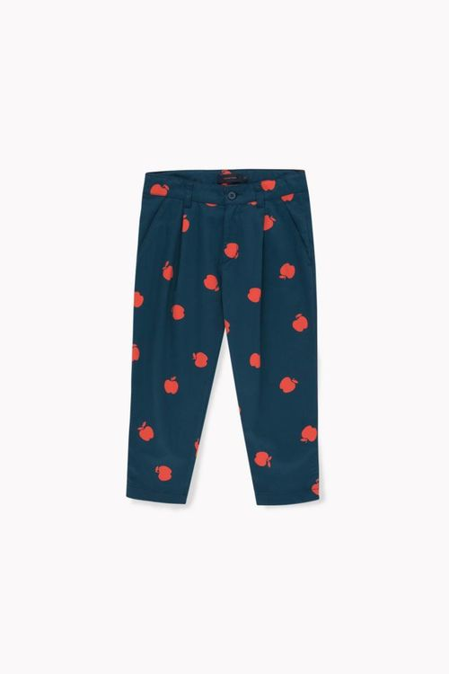 Tinycottons Apples Pleated Pant True Navy/Burgundy