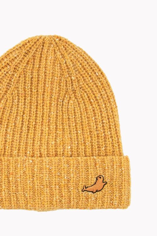 Tinycottons Little Seal Beanie Yellow