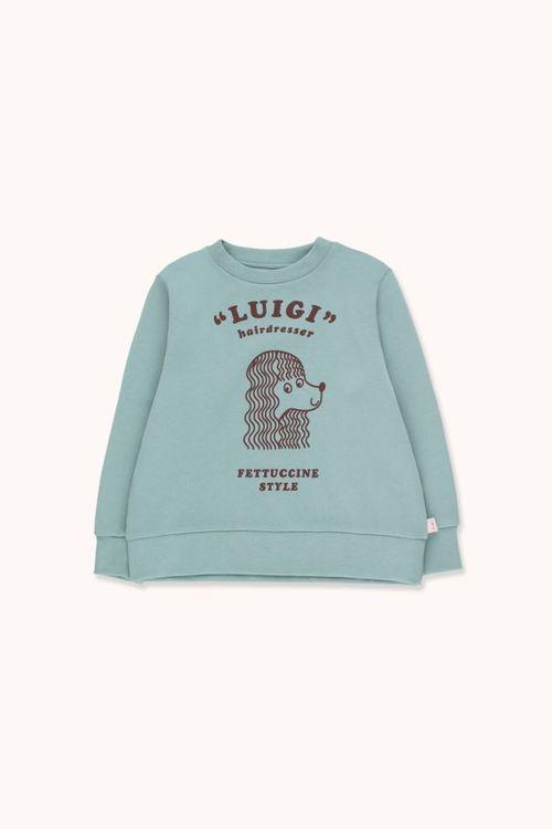 TINYCOTTONS Fettuccine Style Sweatshirt Sea Green/Dark Brown
