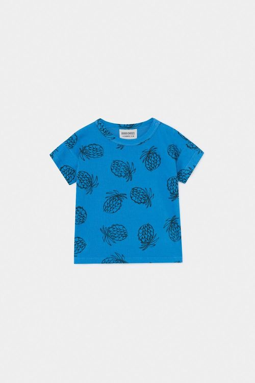 BOBO CHOSES All Over Pineapple T-Shirt Azure Blue