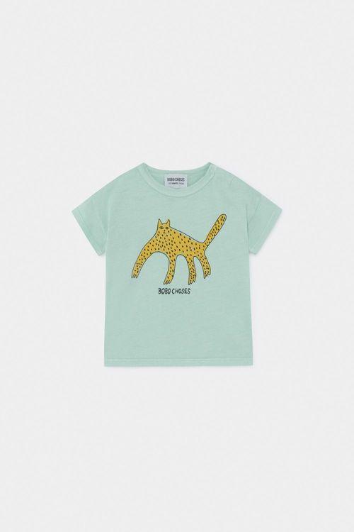 BOBO CHOSES Leopard T-Shirt Frosty