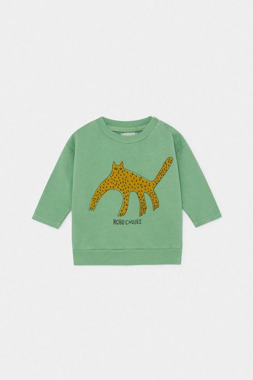 BOBO CHOSES Leopard Sweatshirt Aspen