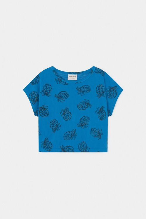 BOBO CHOSES All Over Pineapple Short Sleeve T-Shirt azure Blue