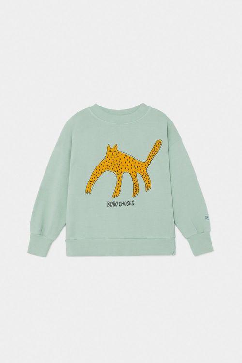 BOBO CHOSES Leopard Sweatshirt Frosty