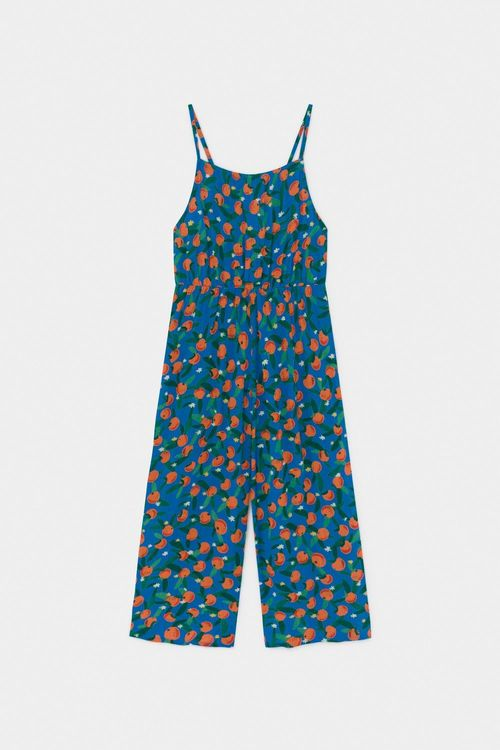BOBO CHOSES All Over Oranges Woven Overall Azure Blue