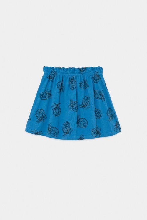 BOBO CHOSES All Over Pineapple Jersey Skirt Azure Blue