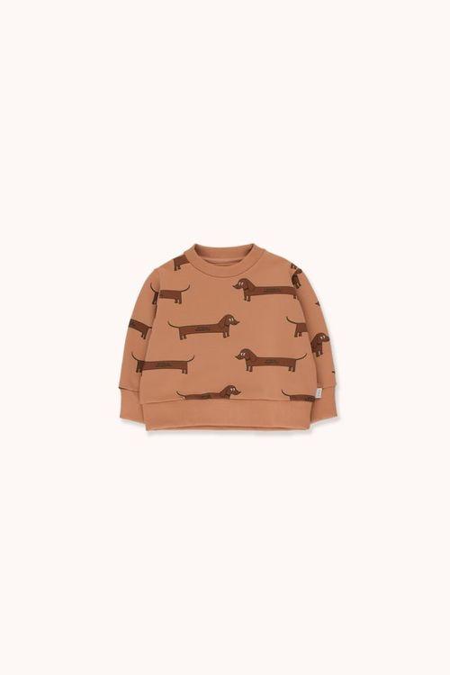 TINYCOTTONS Il Bassotto Sweatshirt Tan/Dark Brown