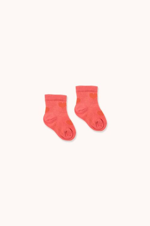 TINYCOTTONS Hearts Medium Socks Red/Red