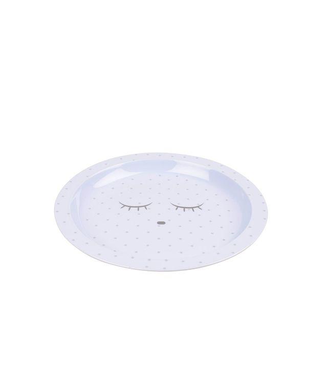 Livly Saturday Plate White /Silver Dots