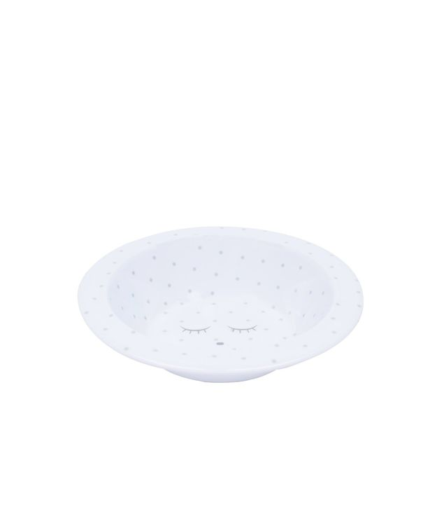 Livly Saturday Bowl White/Silver Dots