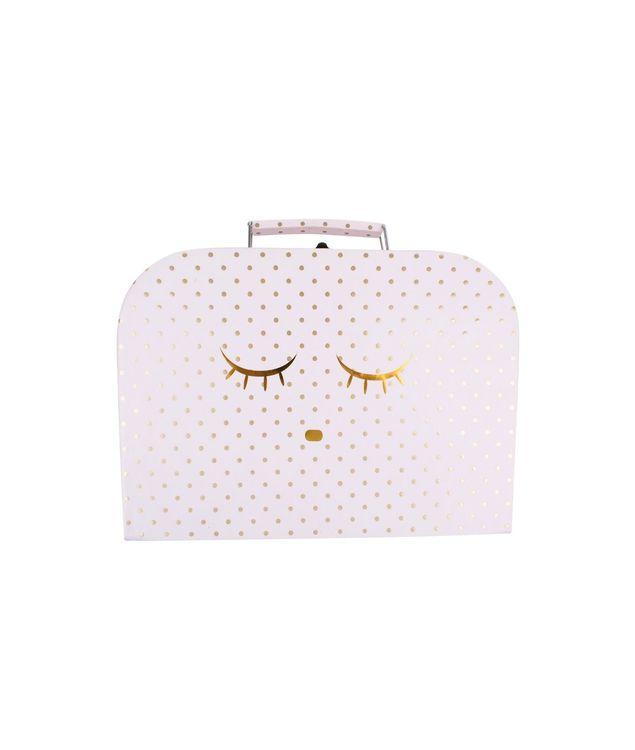 Livly Medium Sleeping Cutie Trunk Pink/Gold Dots
