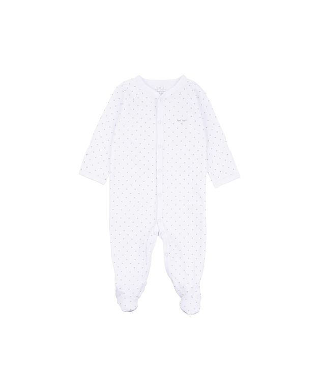 Livly Saturday Simplicity Foootie White/Silver Dots