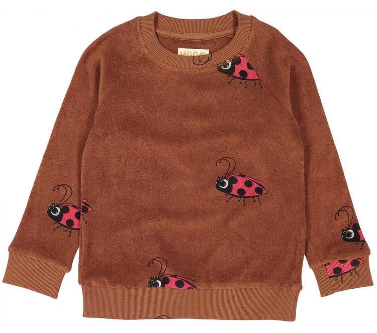 Hugo Loves Tiki Terry Sweatshirt Brown Ladybug