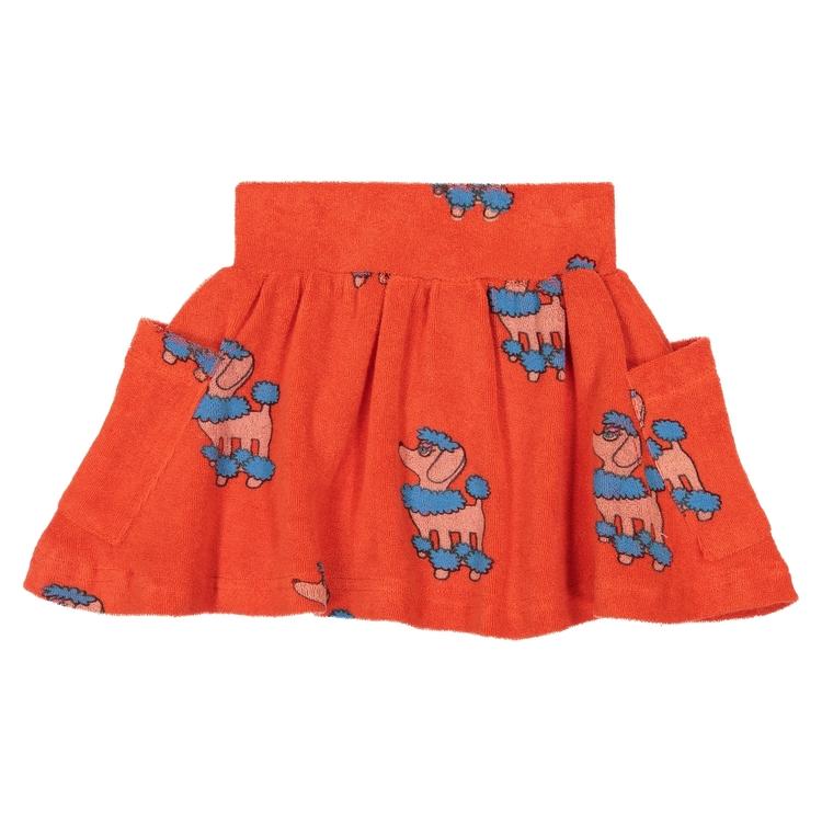 Hugo Loves Tiki Terry Pocket Skirt Red Poodle