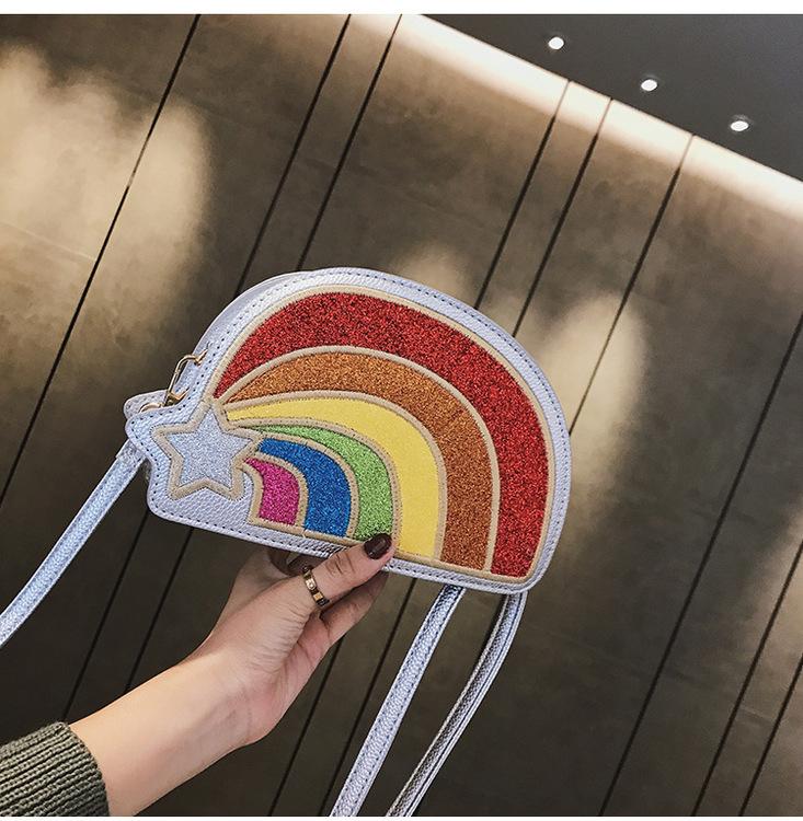 Glittrig Rainbow Väska Blå