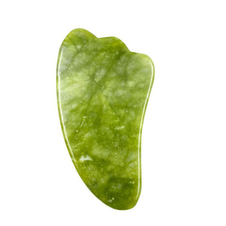 Natural Gua Sha Jade Quartz Stone Face Board Tool - Grön