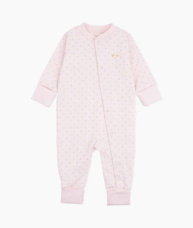 Livly Saturday Overall Baby Pink/Gold Dots