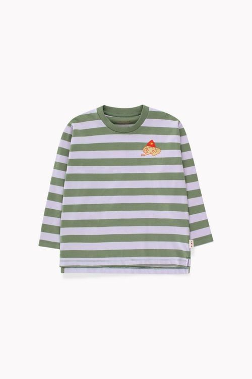 Tinycottons Stripes ls Tee Green Wood