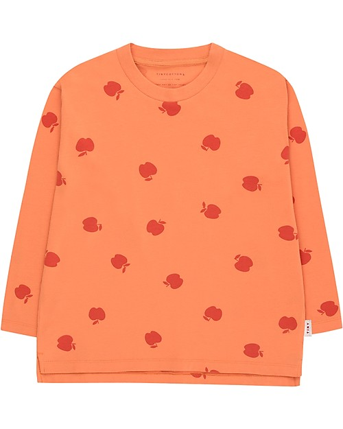 Tinycottons Apples Ls Tee Coral