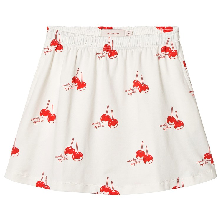 Tinycottons Candy Apples Short Skirt Off-White/Red