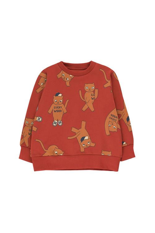 Tinycottons Cats Sweatshirt Dark Brown