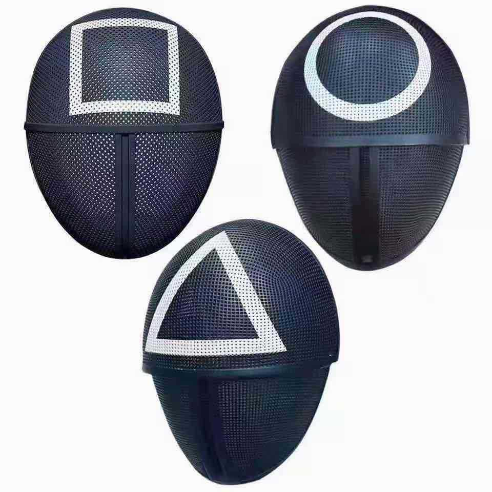 Squid Game Cosplay Mask Square Circle Triangle Halloween Masks 1pcs