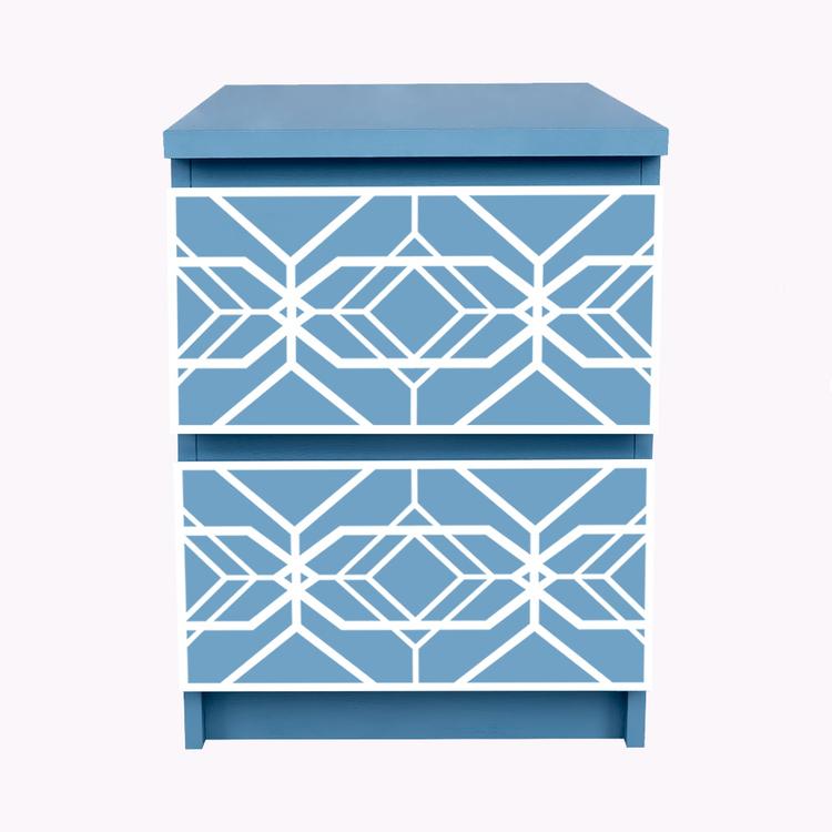 Aleks - möbeldekor till Malm sängbord