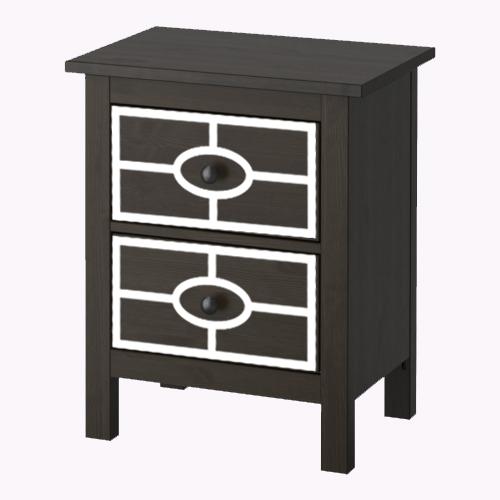 Caroline - möbeldekor till Hemnes sängbord