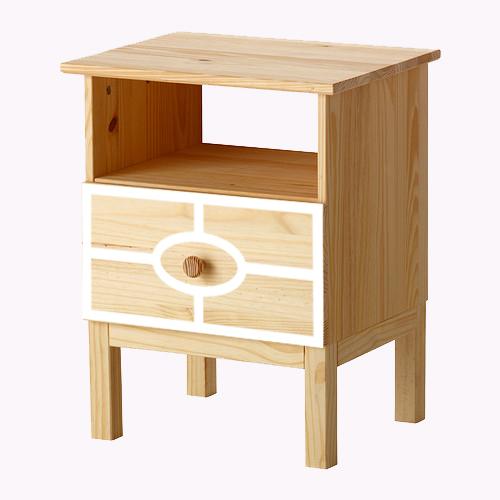Caroline - möbeldekor till Tarva sängbord