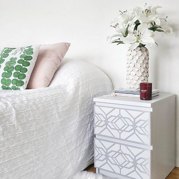 Aleks - furniture decor for IKEA Malm bedside table