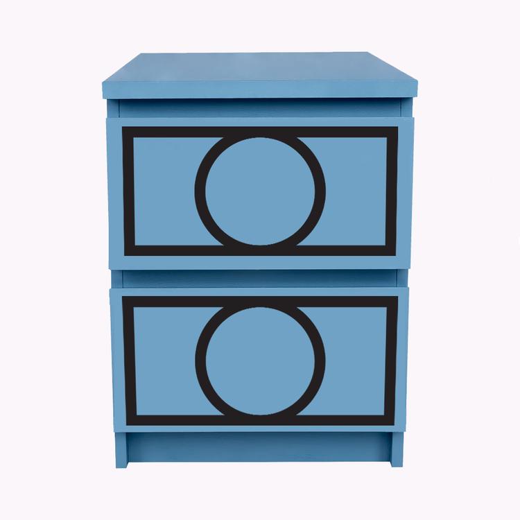 Hanna - möbeldekor till Malm sängbord