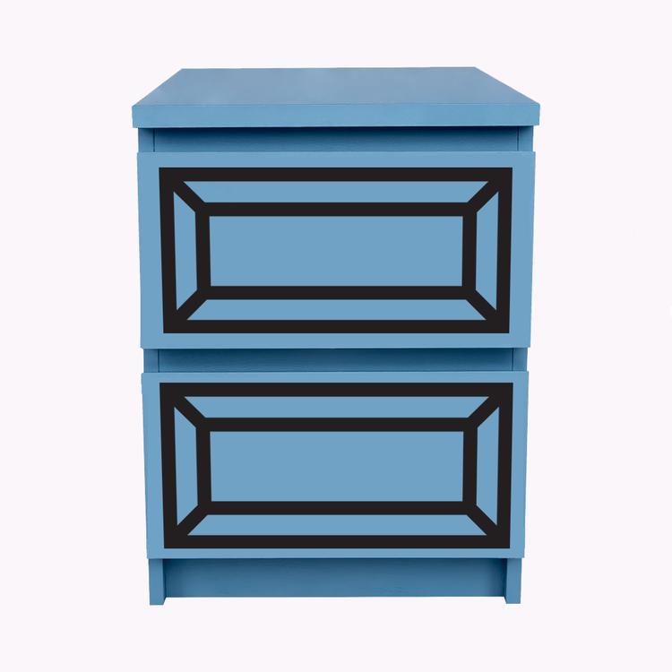 Gustav - möbeldekor till Malm sängbord