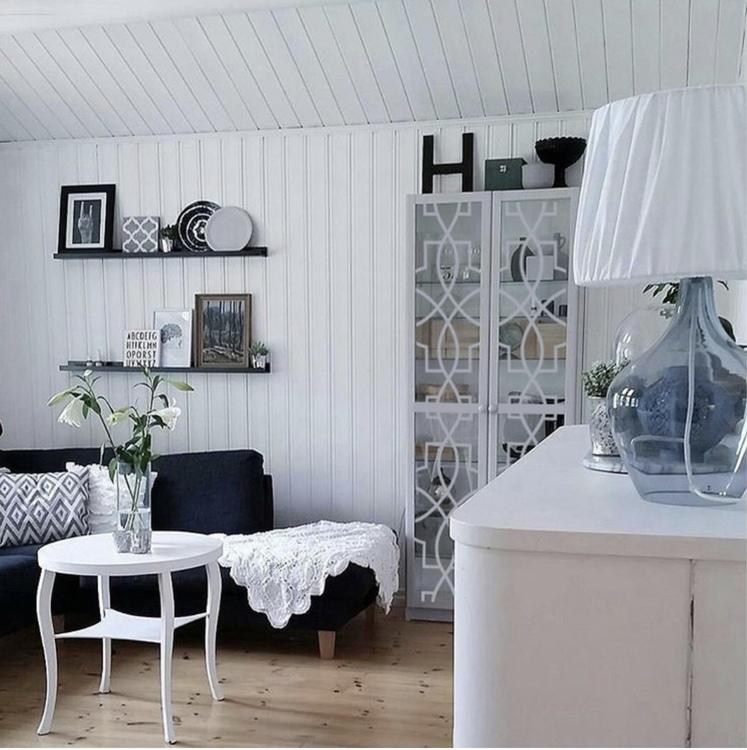 Annica - möbeldekor till Billy vitrinskåp (obs, den gamla varianten)