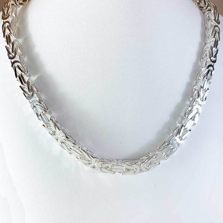 Massiv fyrkantig kejsarlänk - Halsband 7,5 mm
