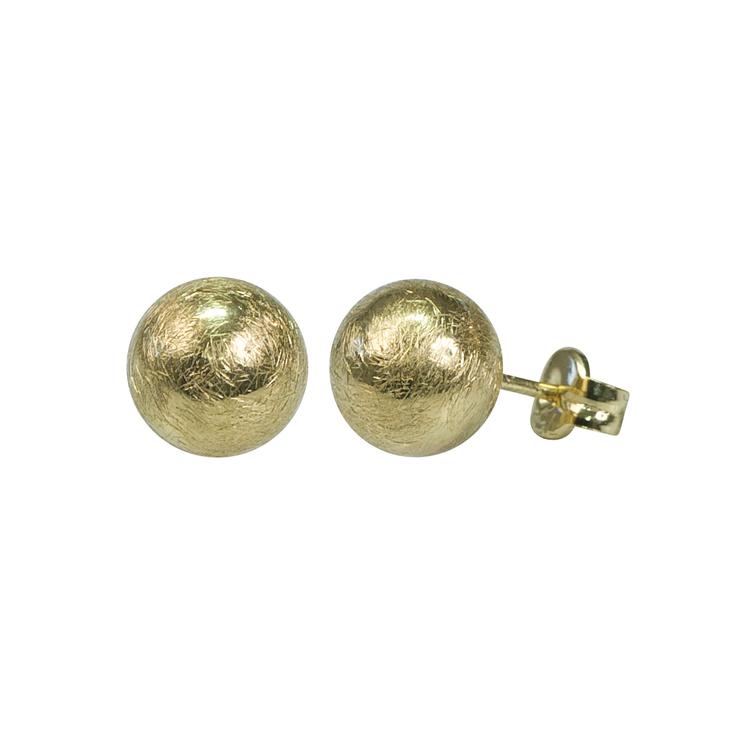 Guldkula borstad 18K - 3 mm