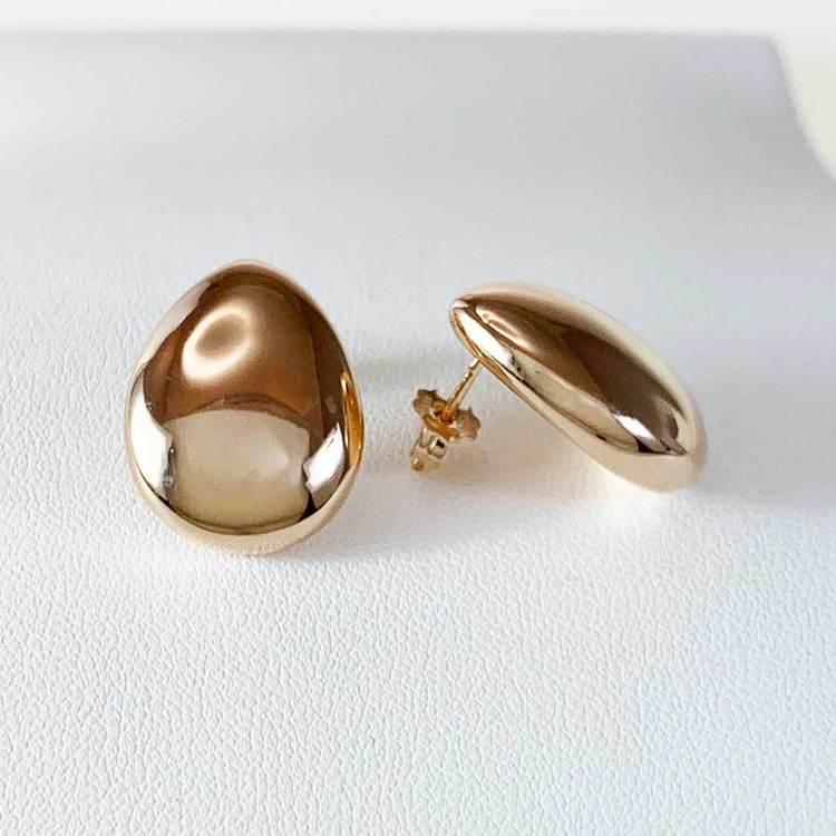 Snygga örhängen i roseförgyllt silver DROP från Catwalk Jewellery