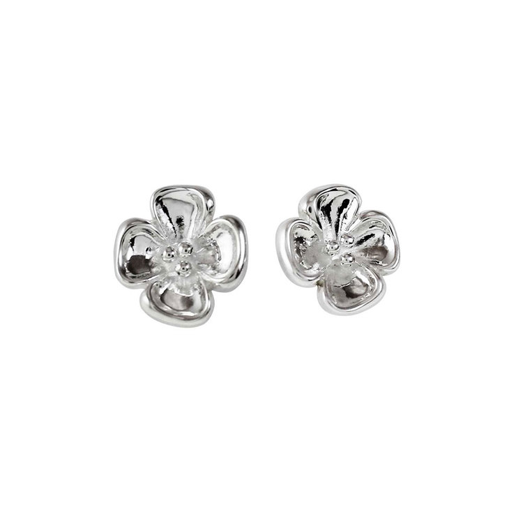 Fina örhängen Small Flower i silver från Catwalk Jewellery
