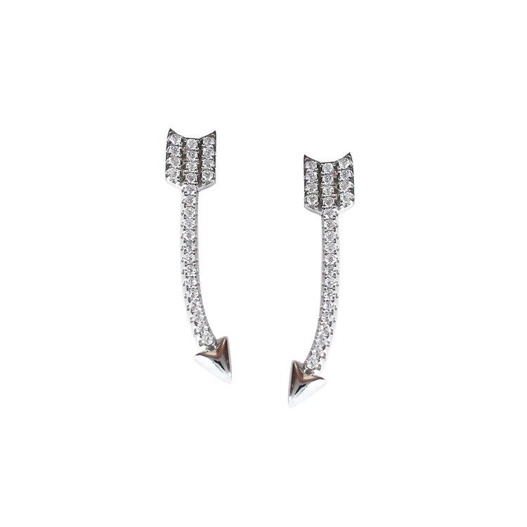 Snygga örhängen Sparkling Arrow med cz-stenar från Catwalk Jewellery