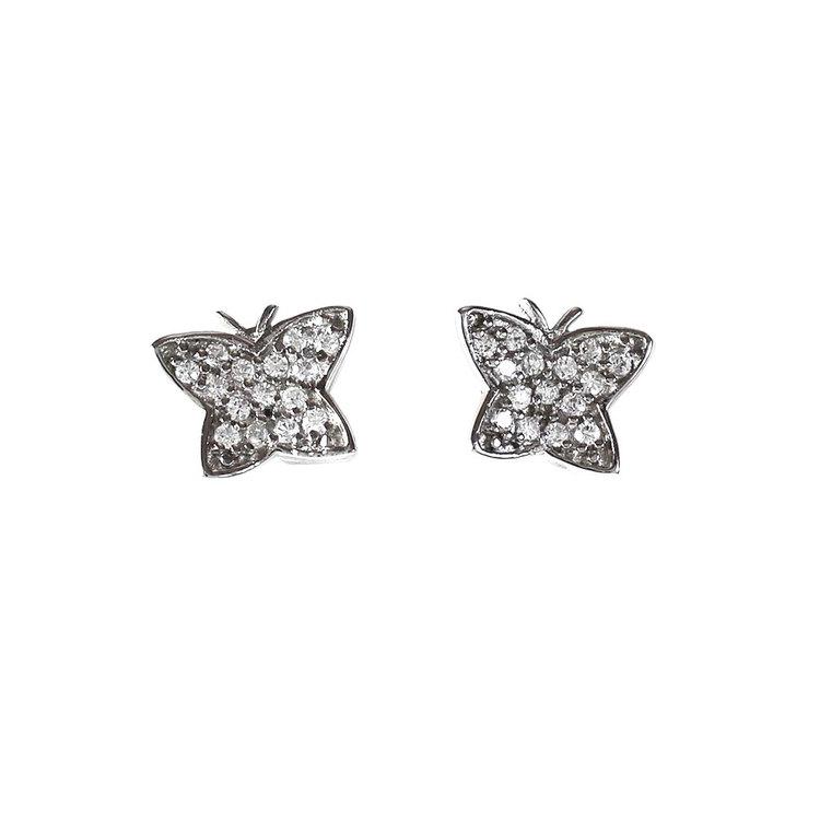 Vackra örhängen Butterfly Rhodinated Silver från Catwalk Jewellery