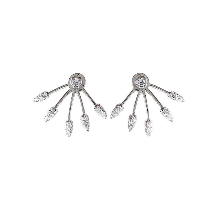 Örhängen Sparkling Lines Rhodinerat Silver