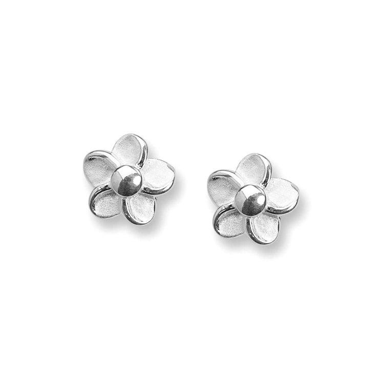 Örhängen Flower i 925 silver