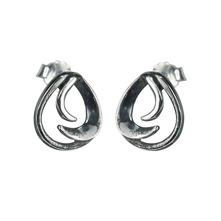 Snygga örhängen i oxiderat silver Black Angel från Catwalk Jewellery