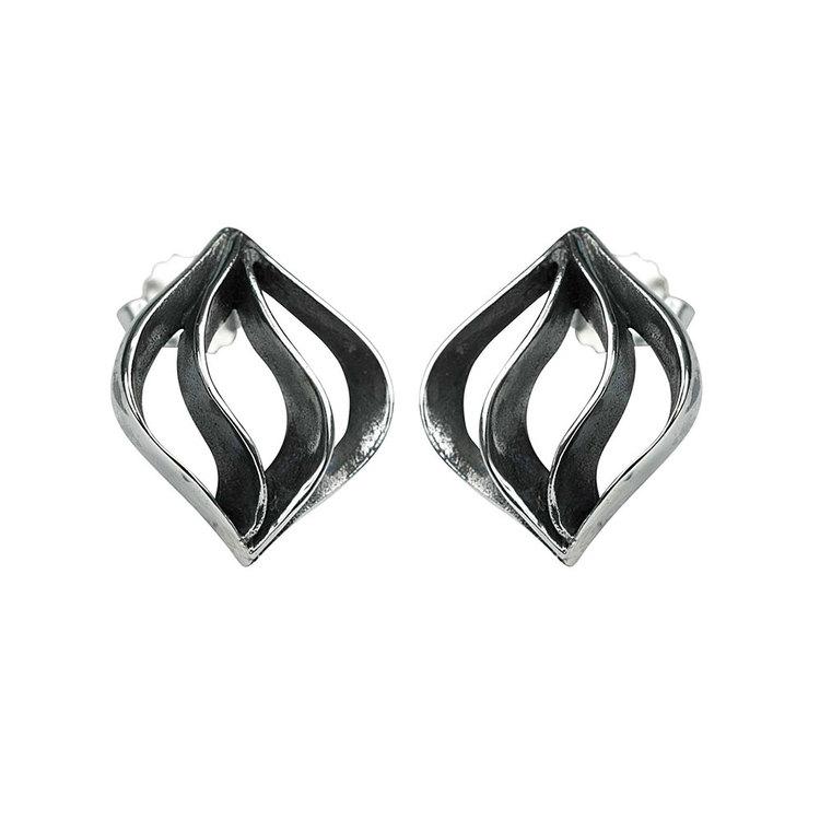 Örhängen Black Oxiderat Silver