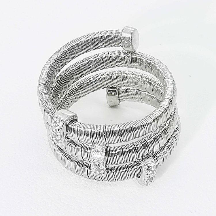 cool ring i silver Aurora från Catwalk Jewellery
