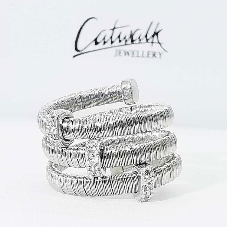 snygg ring i silver Aurora från Catwalk Jewellery