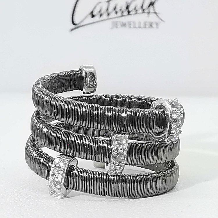 Ring Aurora Oxiderat Silver