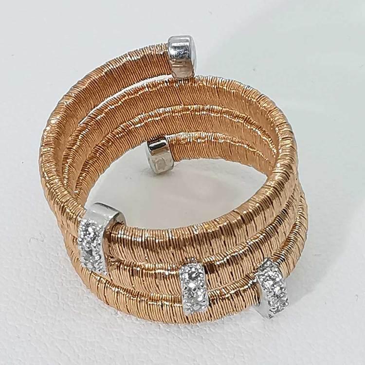 Ring Aurora Roséförgyllt Silver